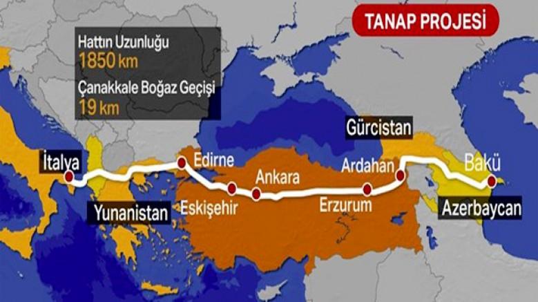 Avrupa'ya bağlanan bin 850 kilometrelik boru hattı tamamlandı