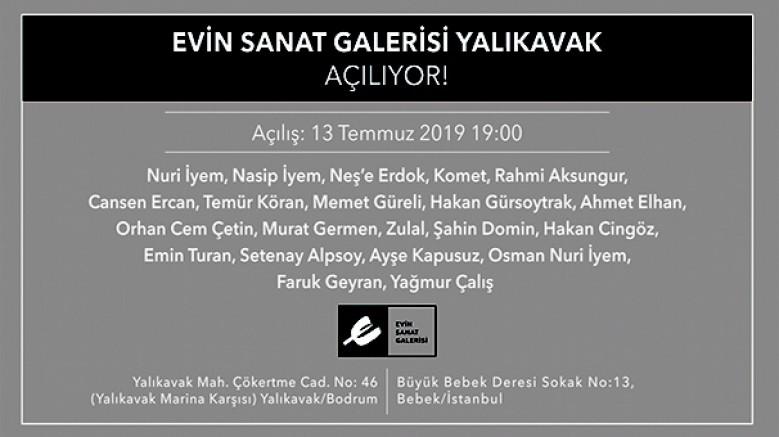 Evin Sanat Galerisi Yalıkavak, 13 Temmuz'da açılıyor