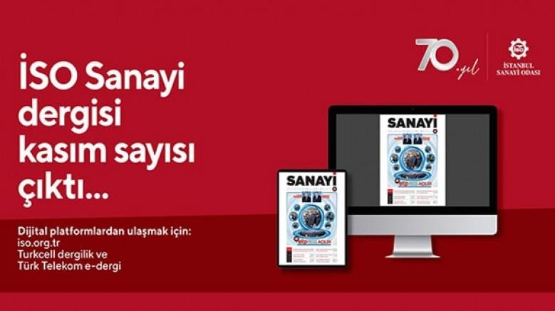 İSO Sanayi Dergisi Kasım sayısı yayında